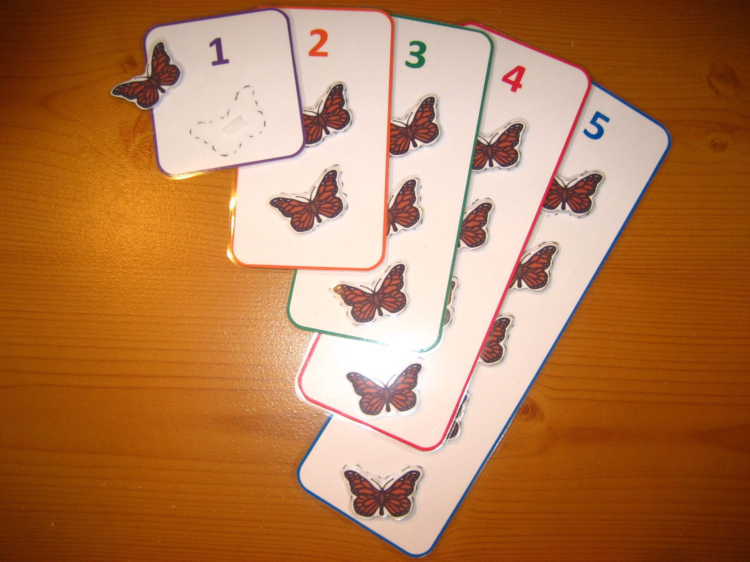 Butterflies Counting Printable File Folder Game 5 By