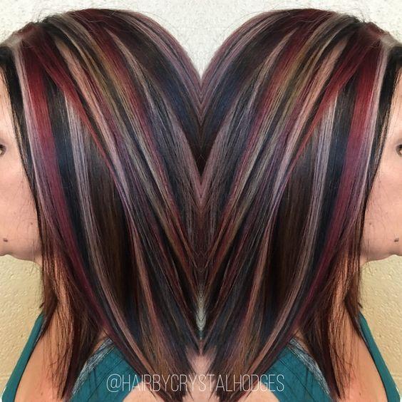 Chunky highlight red blonde brown httpniffler elmtumblr hair coloring chunky highlight red blonde brown pmusecretfo Gallery