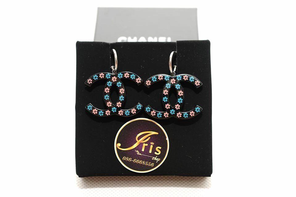 ต่างหู Chanel Earrings (CC ห้อยลายดอกไม้) ของใหม่พร้อมส่ง‼️ - Iris Shop