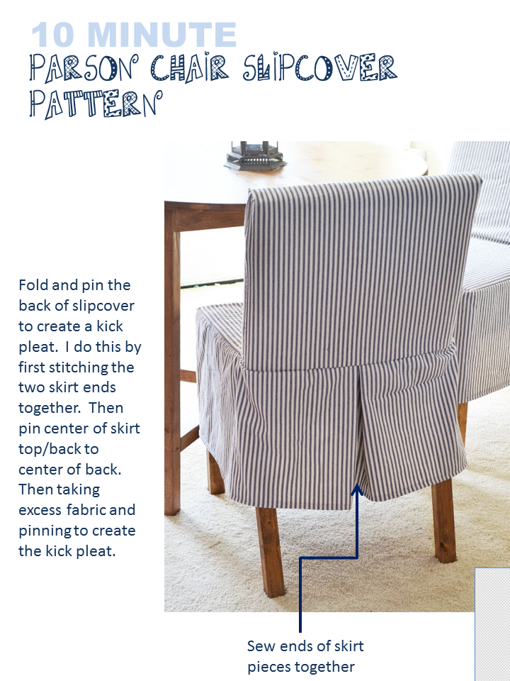 Build A Easiest Parson Chair Slipcovers Free And Easy Diy