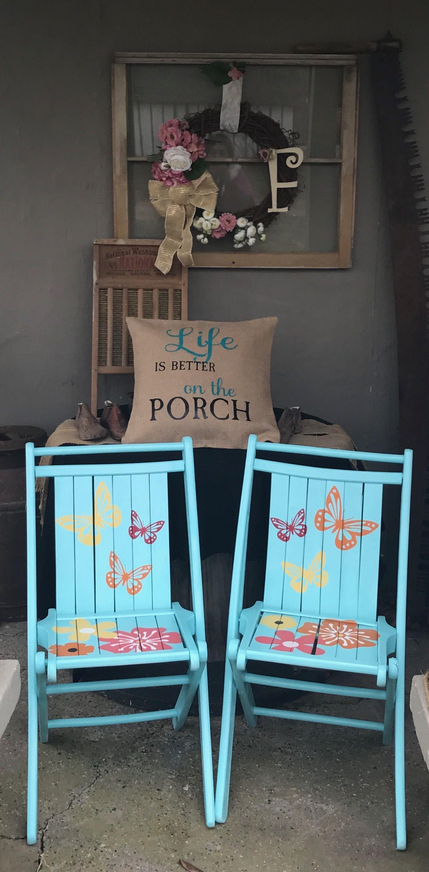 Diy vintage folding chair makeover folding chair