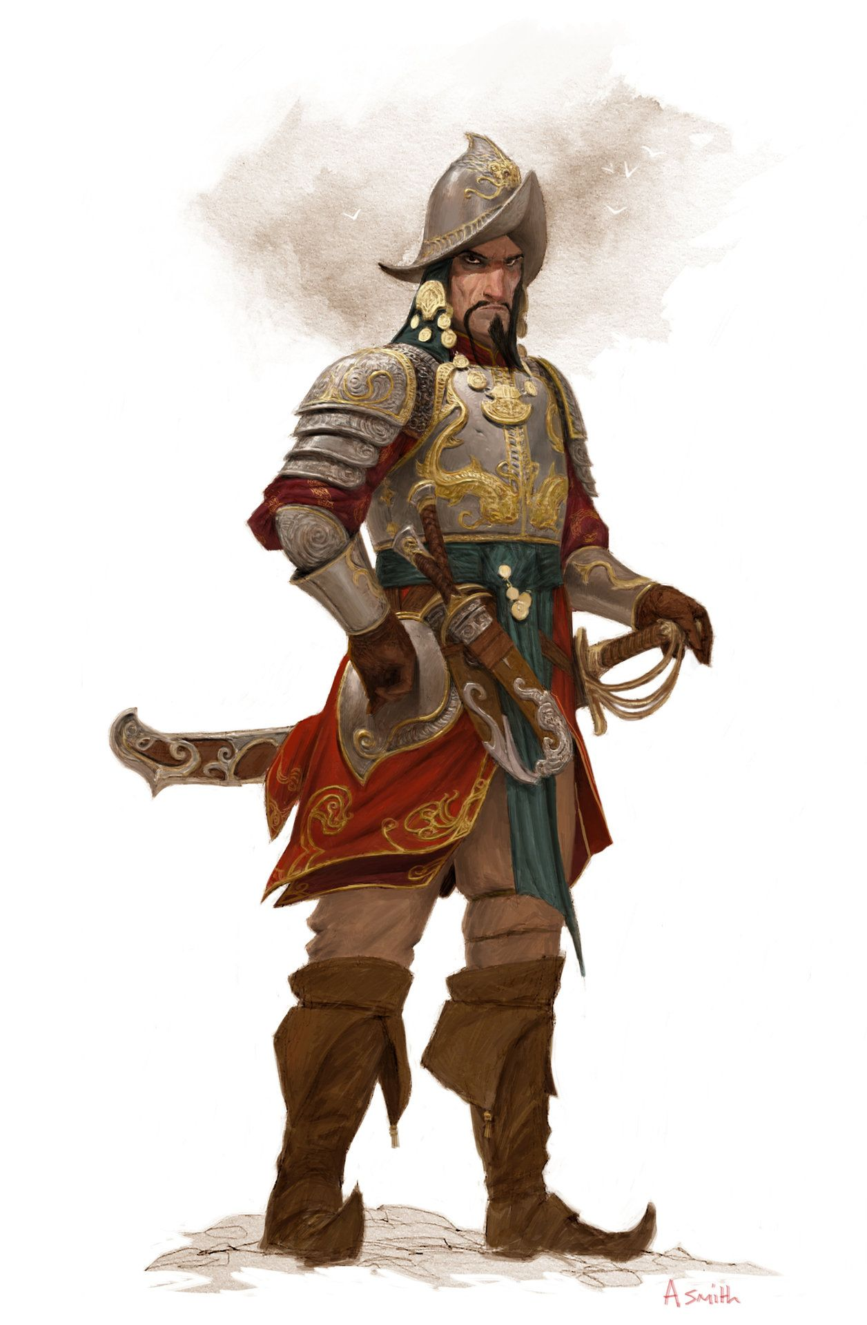 ArtStation - Zaparavo-character for 'Conan' board game, adrian smith