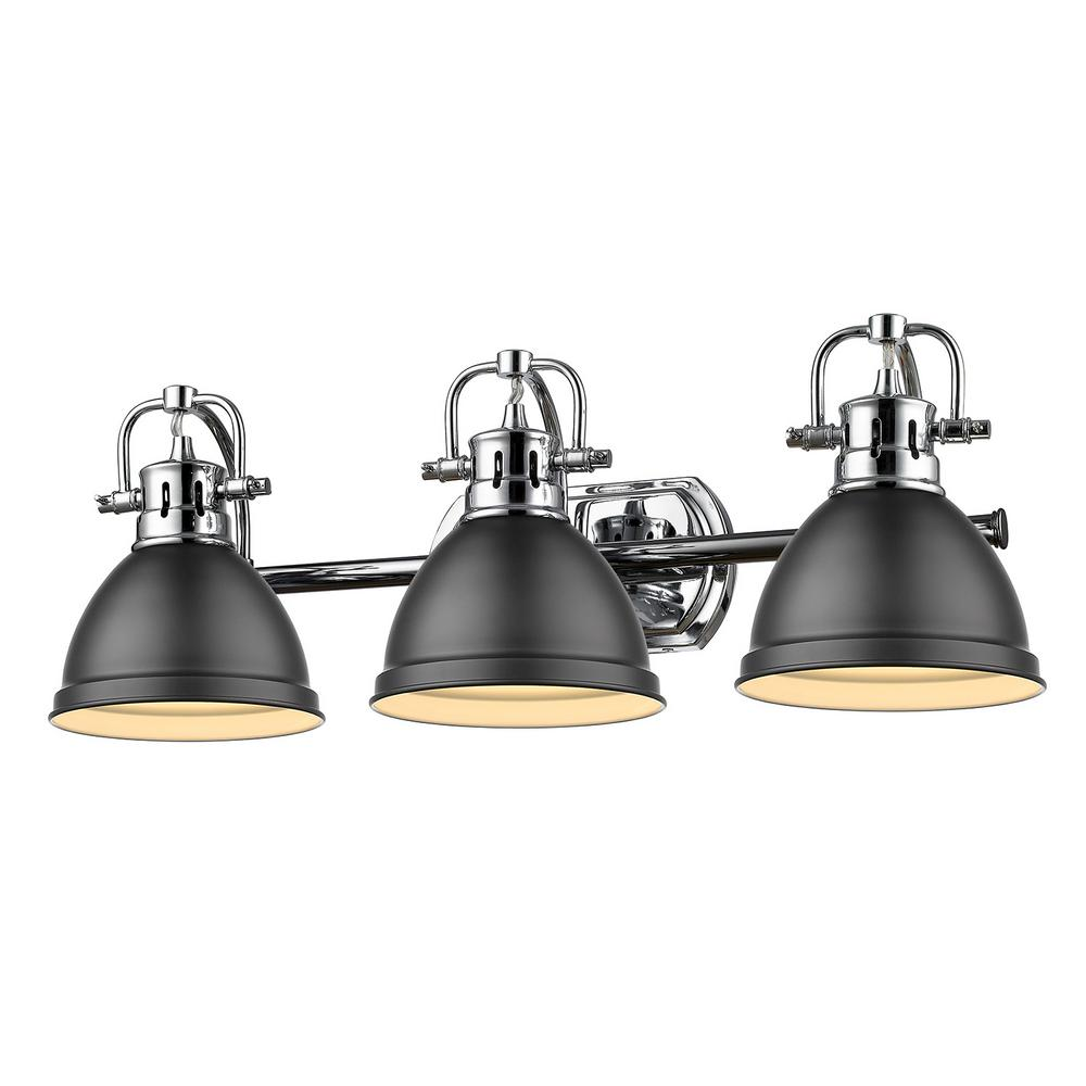 Golden Lighting Duncan 3-Light Chrome Bath Light with ...