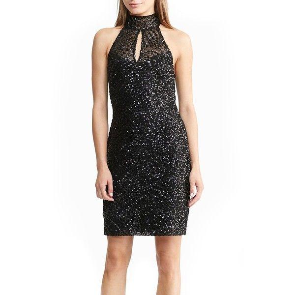 Women\'s Lauren Ralph Lauren Sequin Dress (255 CAD) ❤ liked on ...