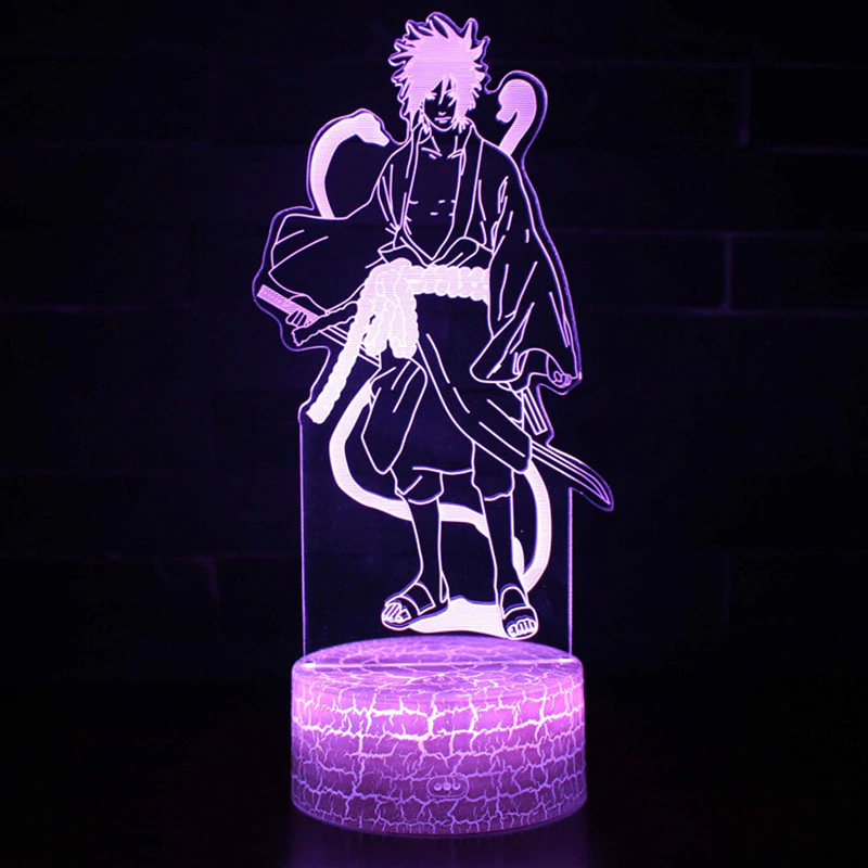 Anime Naruto Theme 3d Table Lamp With Remote Control Bedroom Decoration Light Naruto Sasuke Kakashi Model Night L Led Table Lamp Game Room Design 3d Table Lamp