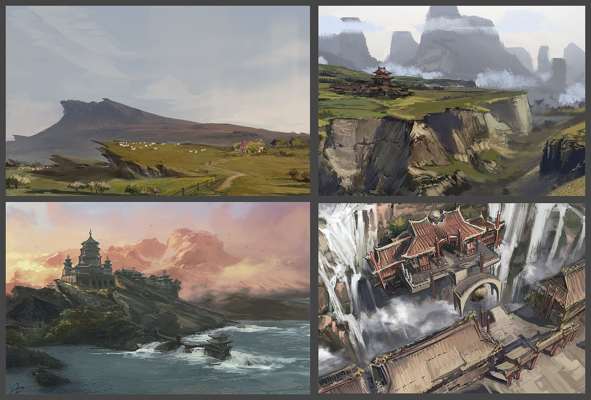 ArtStation - Setting sketches, Victoriya Anda