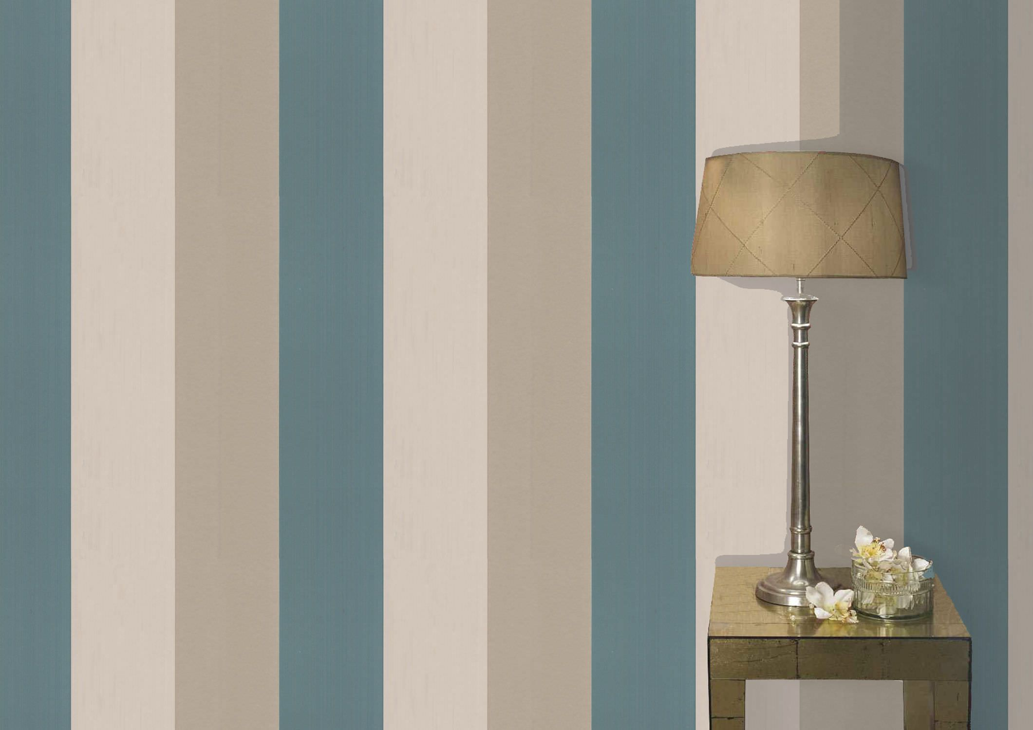 Pareti A Strisce Beige : Carta da parati a righe figaro graham brown ideas nice color