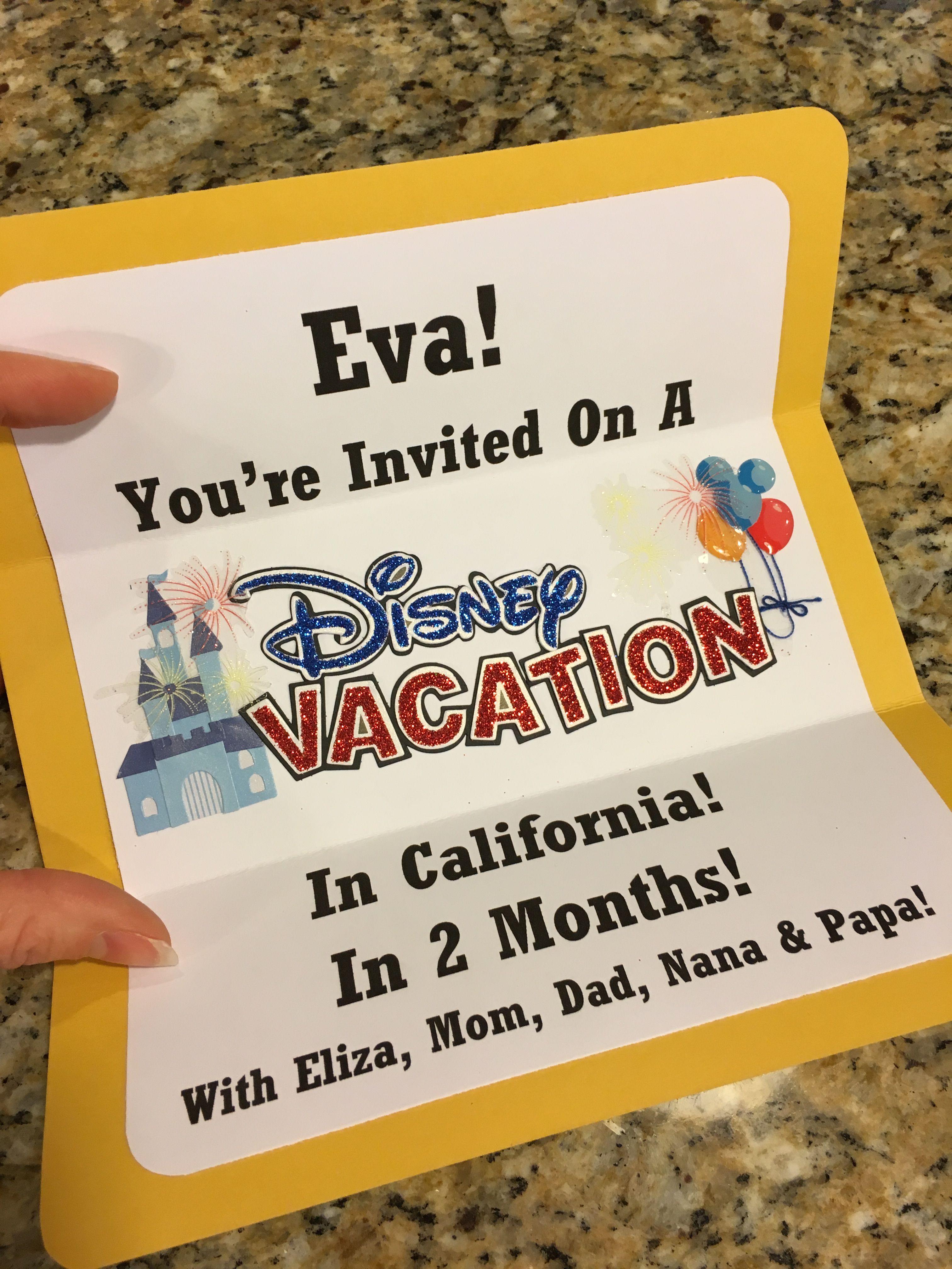 Disney Invite Congratulations You Re Going To Disneyland Surprise