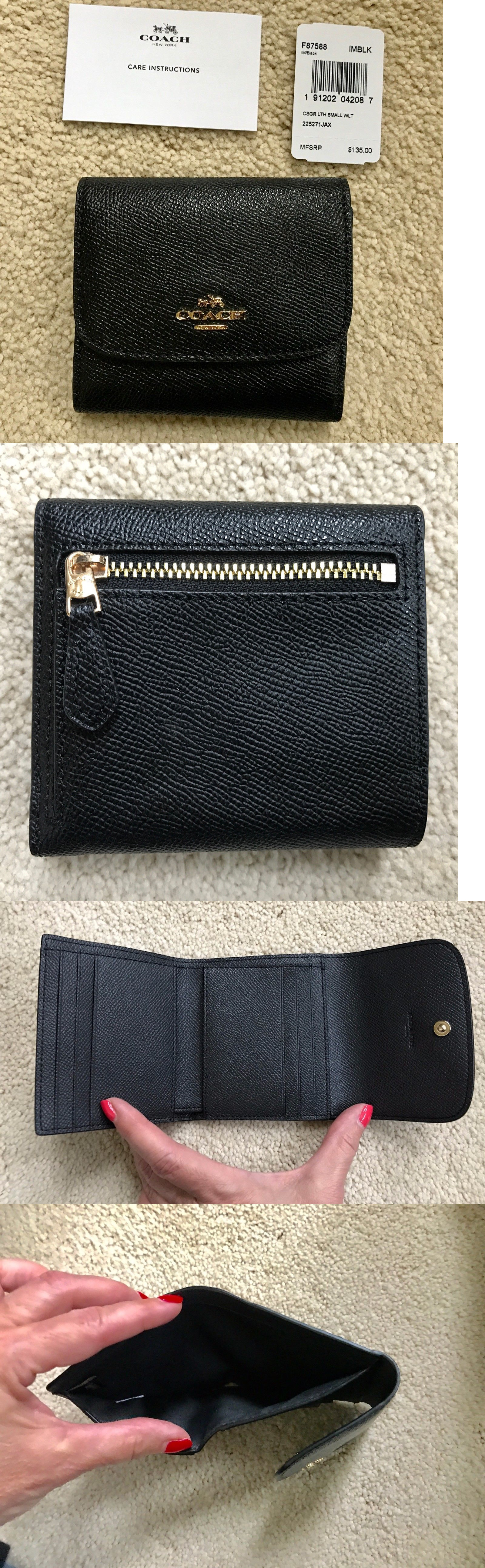 366a3803cf11 ... where to buy 1234 0929f b2456 new zealand wallets 45258 nwt coach small  trifold wallet crossgrain