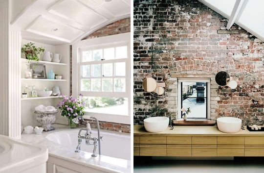 Exposed Brick Walls: 29 Photos For Decorating Inspiration Part 53