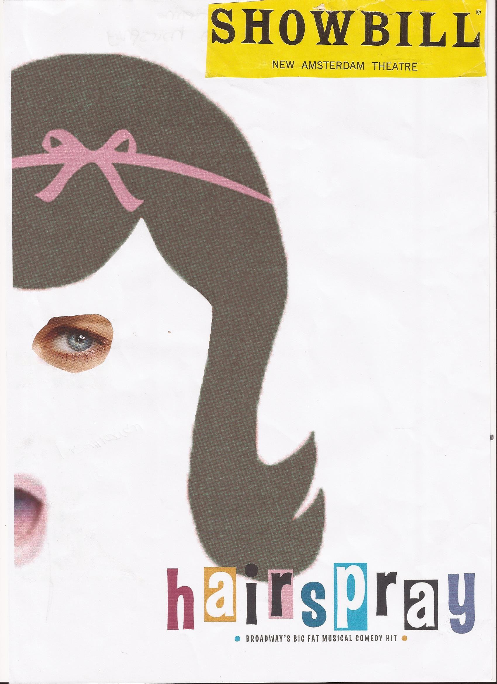 Collage: Hairspray. Es un collage sinecdoque, con una parte de entiende el todo.