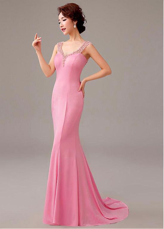 comprar Escote de longitud completa vestidos de noche de la sirena ...