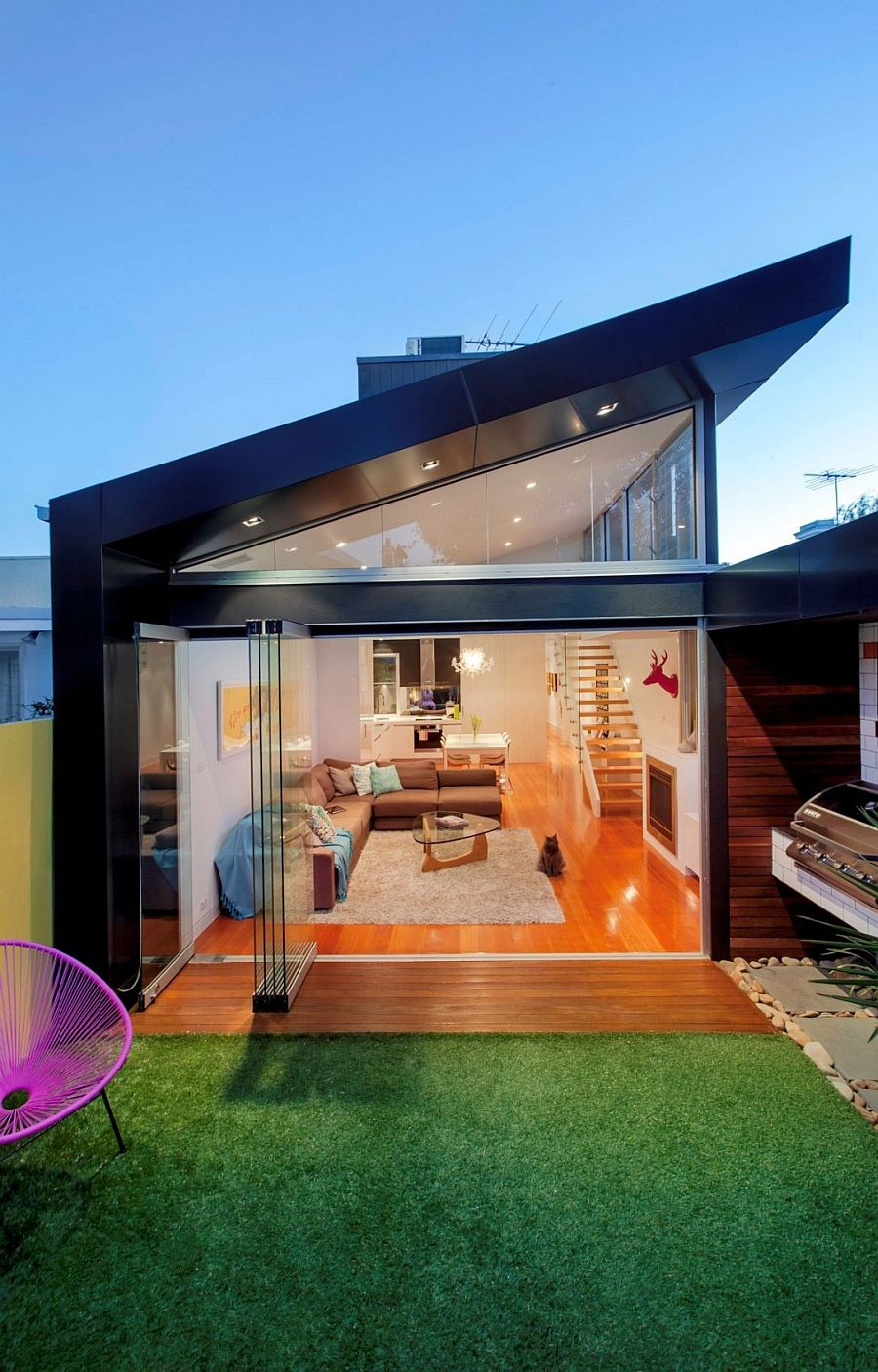 Traditional Victorian Home Transformed with a Glassy Modern
