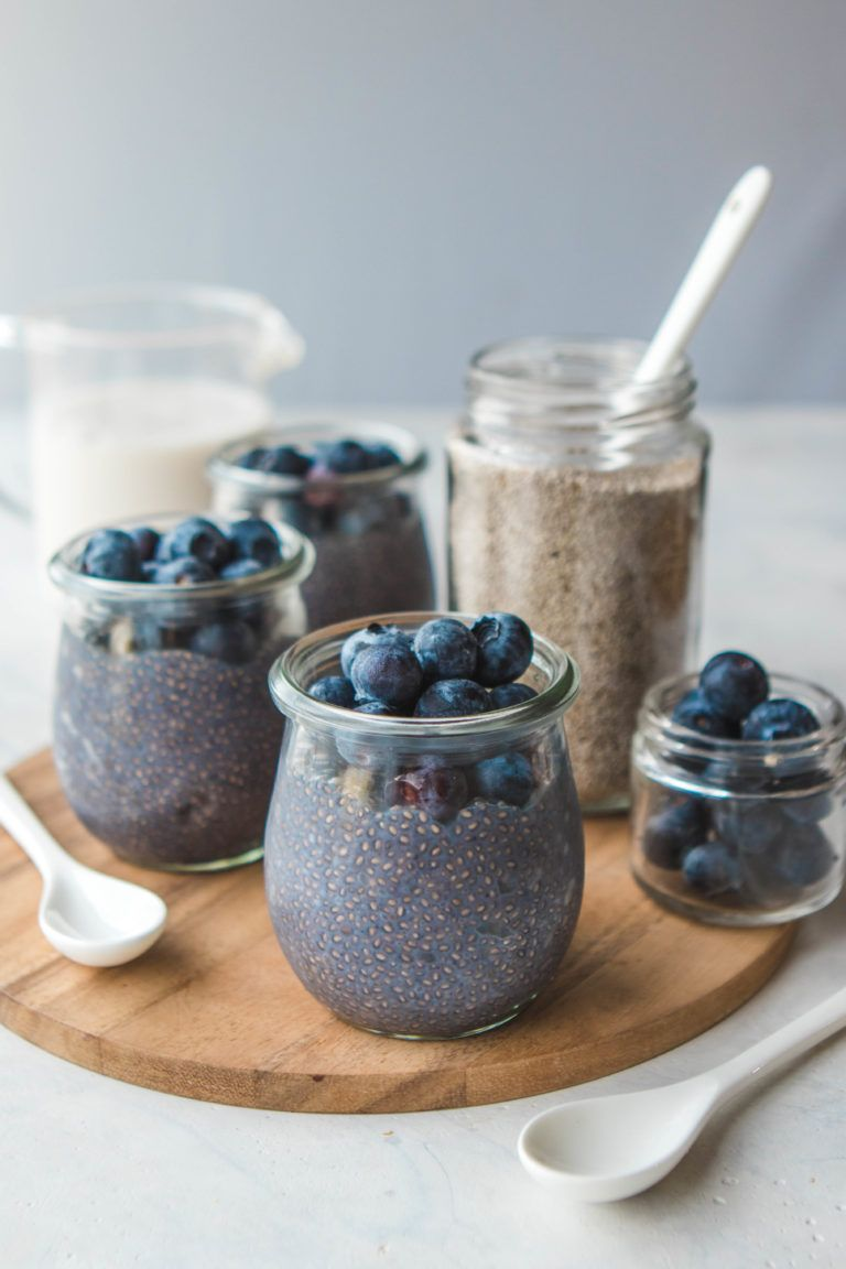 Blueberry Chia Seed Pudding Easy 5 Ingredients Recipe