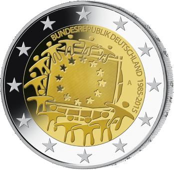 2 Euro Münze 2015 Eu Flagge Mdm Deutsche Münze Flaggen Pinterest