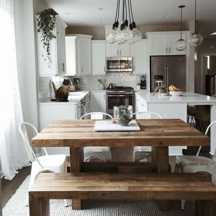 40 GORGEOUS FARMHOUSE DINING ROOM TABLE AND DECORATING IDEAS images