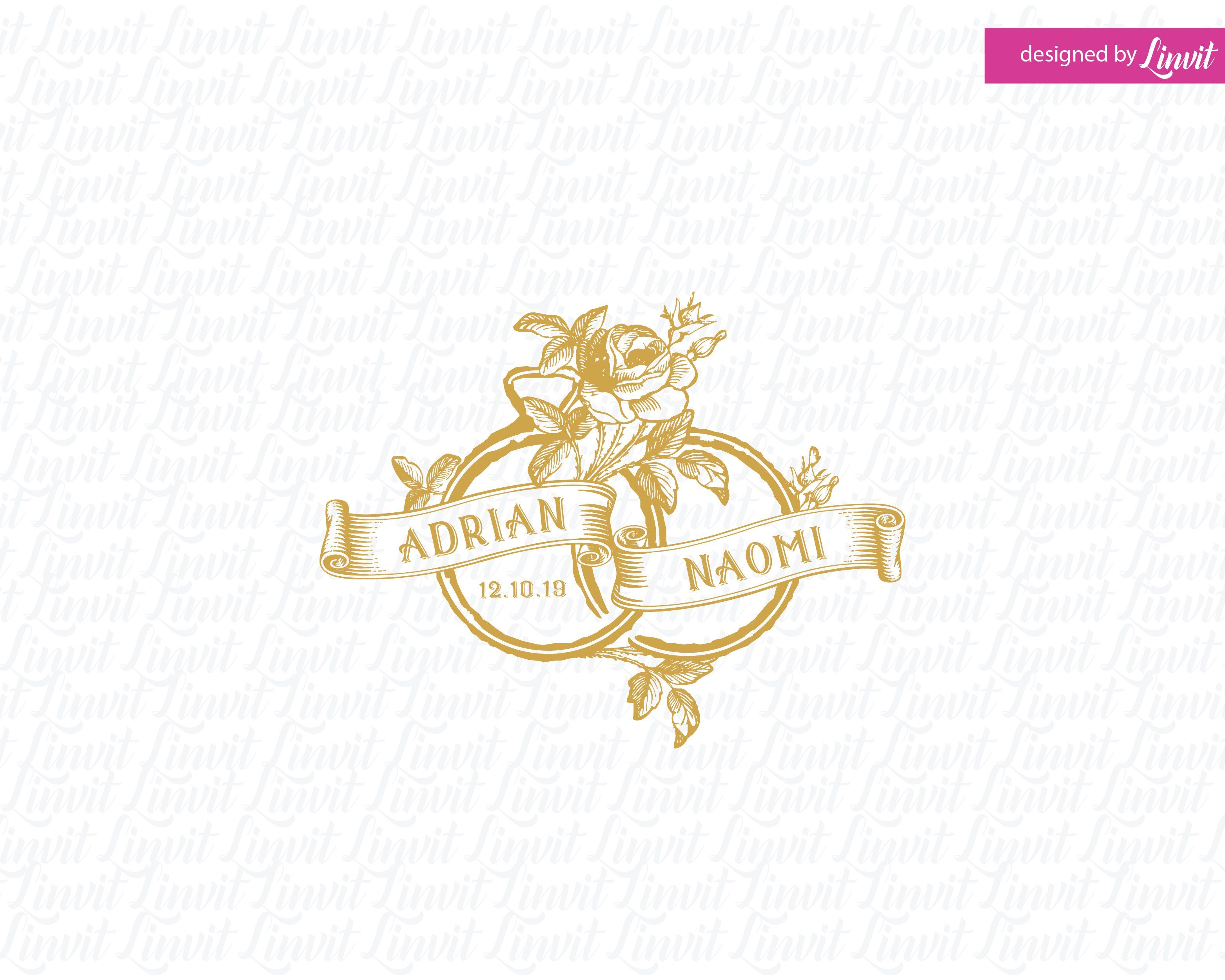 vintage logo vintage wedding monogram Vintage wedding logo vintage wedding crest vintage custom logo vintage wedding template