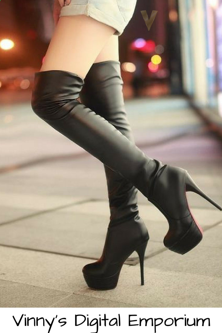 ff6d1508482 Looking for High Heel Boots  Find thigh high boots for women on sale at  Vinny s Digital Emporium. Buy Women s Cute Thigh High Boots Online.