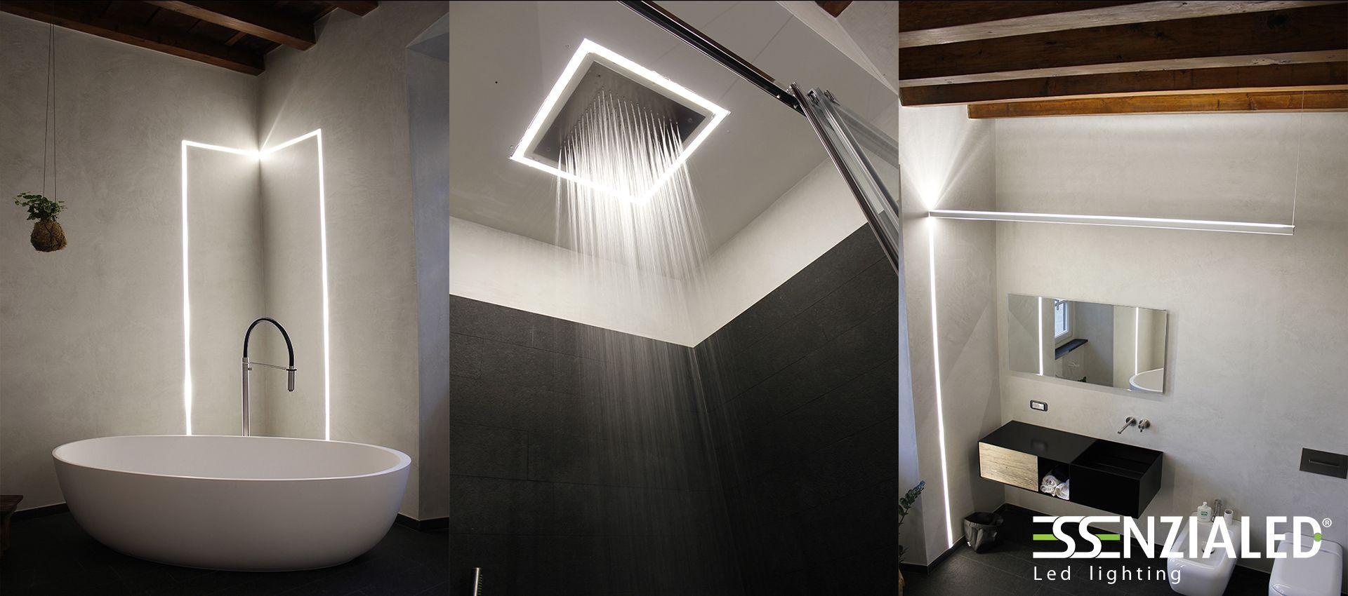 Tagli di luce a parete - Linee di luce a led Essenzialed  Home Lighting  Pinterest  Mood ...
