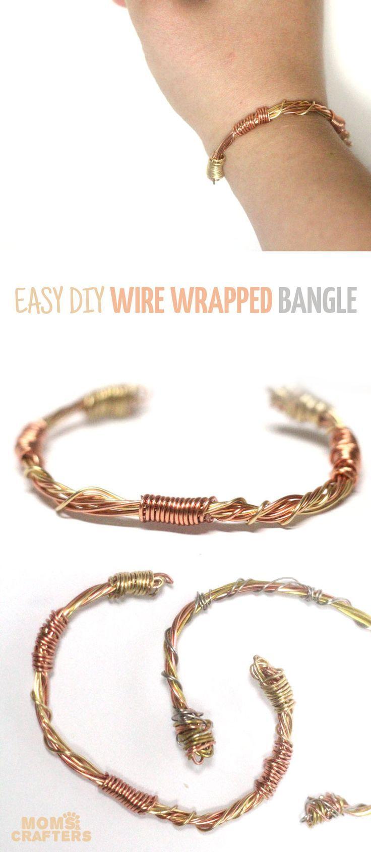 Make a beautiful wire wrapped bangle!