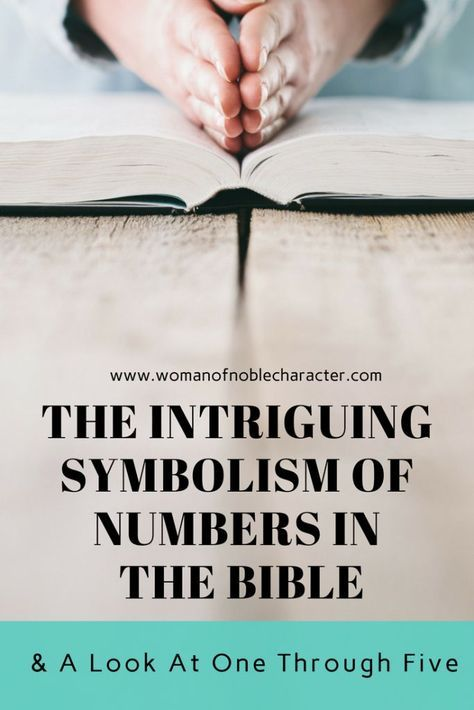 The Symbolism Of Numbers In The Bible A Look At Number 1 5 Bible