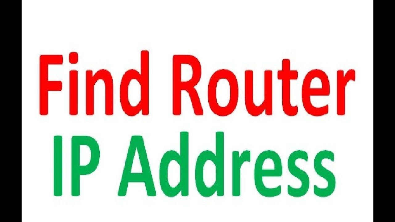 How To Find My Router Ip Address Router Ip Address Addressing