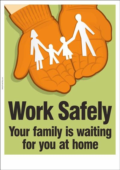 Work safely. Your family is waiting for you at home. … | office ...