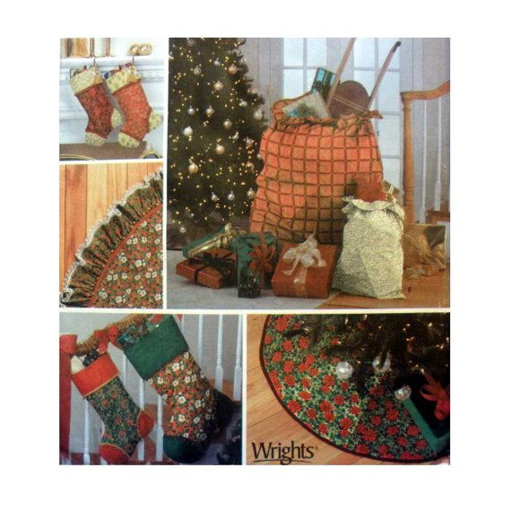 Christmas Craft Pattern Simplicity 7044 Sewing Pattern for Stockings ...