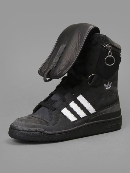 076c87cdfc8e Adidas by Jeremy Scott tall boy high top sneaker with zip pocket at top   adidasbyjeremyscott