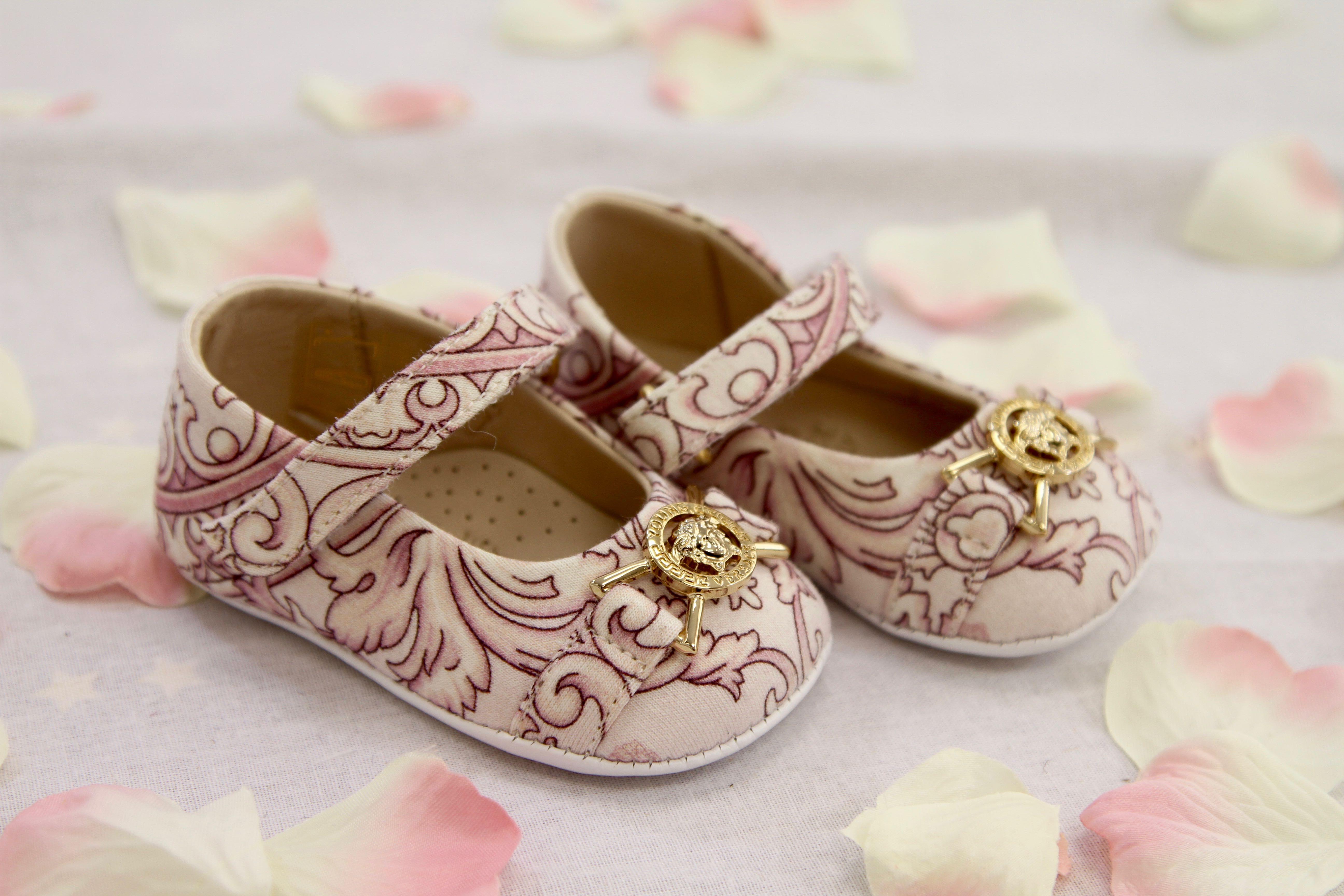 YOUNG VERSACE BABY GIRLS PINK SHOES Baby Kids Glam