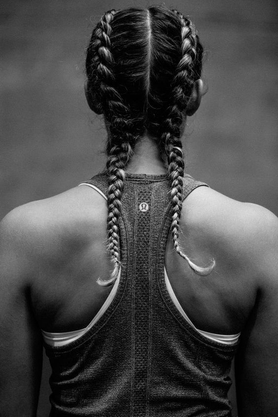 Hot Styles Double French Braids Hair Styles Tennis Hairstyles Double French Braids