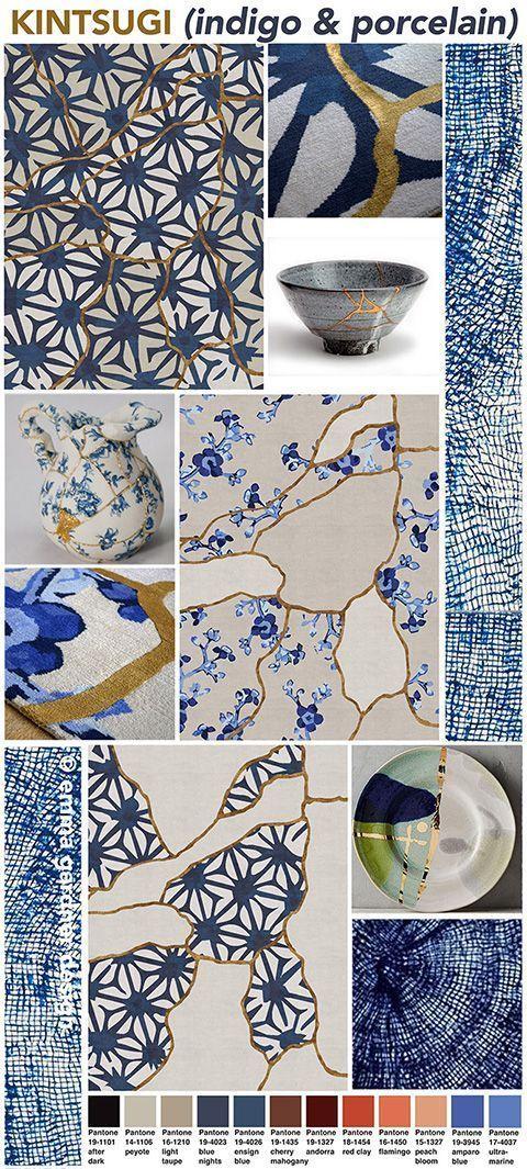 Japanese Silk Fabric light sky blue with white blossom design 1435