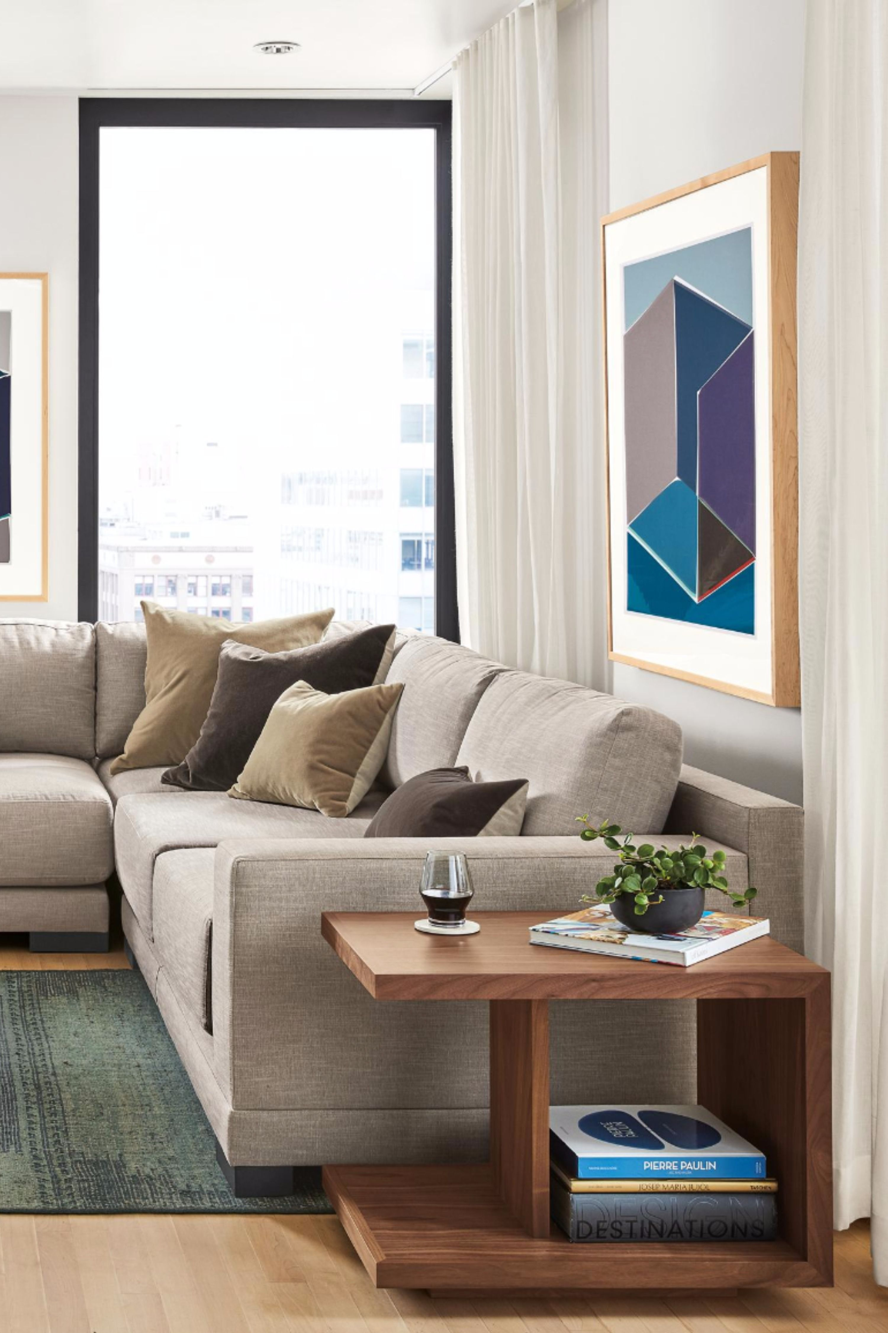 A Light And Airy Neutral Living Room With Modern And Organic