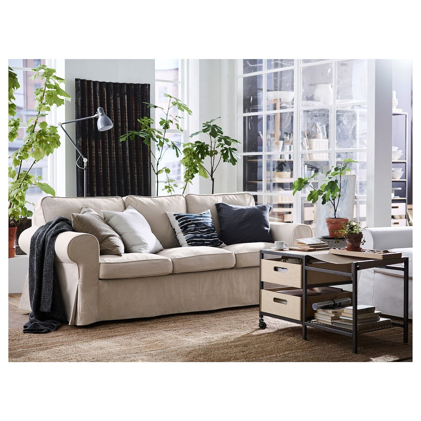 Ektorp Sofa Lofallet Beige Ikea 3er Sofa Klassisches Sofa Sofa Stoff