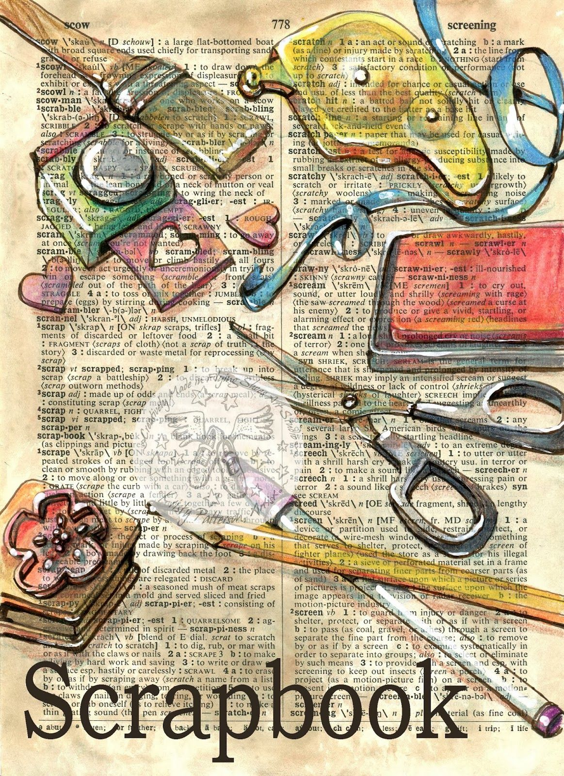 Scrapbook Book Page Art Book Art