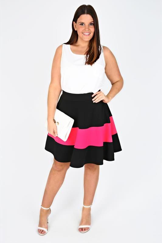 48b116c6239ae1 Alternate+Image Plus Size Skater Dress, Skater Skirt, Wide Stripes, Colour  Block