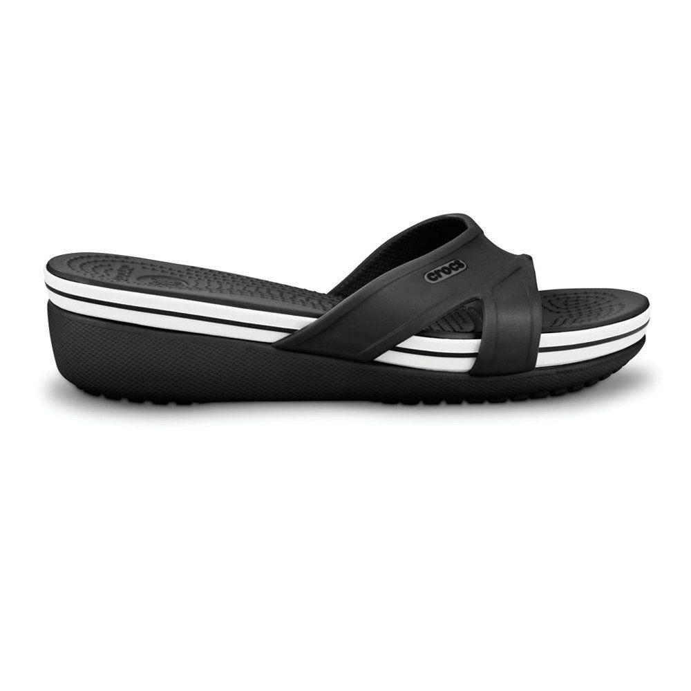 29711b654e19c Crocs Crocband Wedge Black