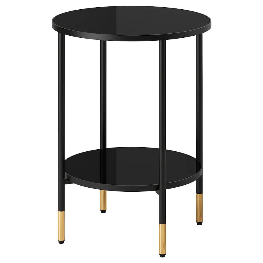 Asperod Beistelltisch Schwarz Glas Schwarz Ikea Deutschland In 2020 Beistelltisch Schwarz Ikea Beistelltisch Beistelltisch