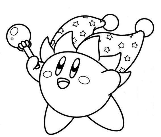 Jester Kirby Coloring Page  coloring therapy  Pinterest  Craft