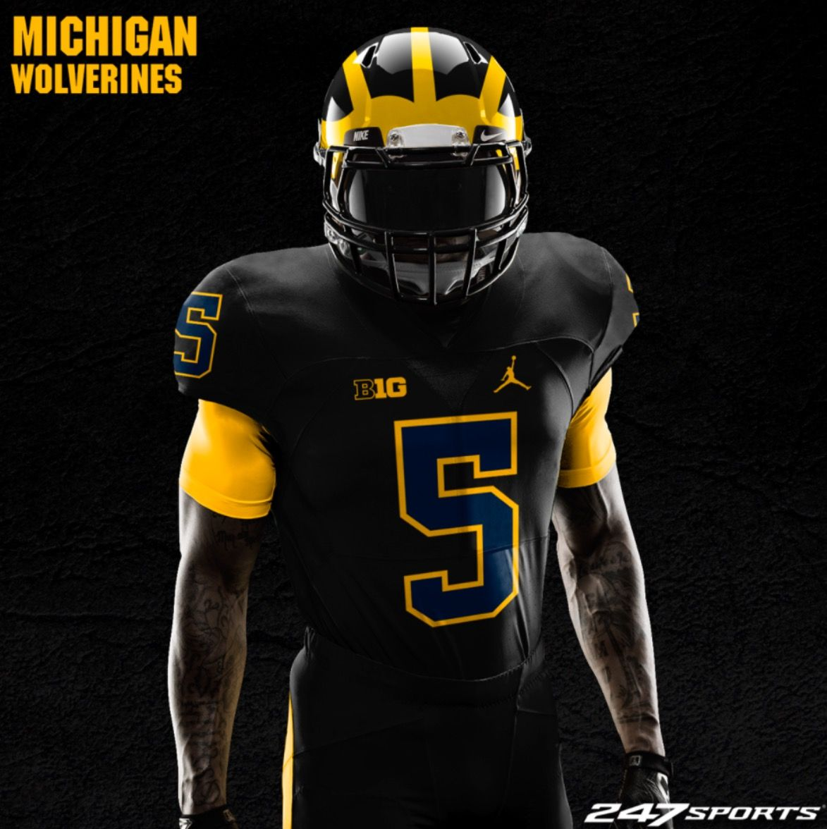Michigan Jordans. Football Presents · Maze   Blue! Go Peppers College  Football Teams 11c674ea0