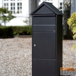 Parcel Drop Box With Peaked Triangle Roof