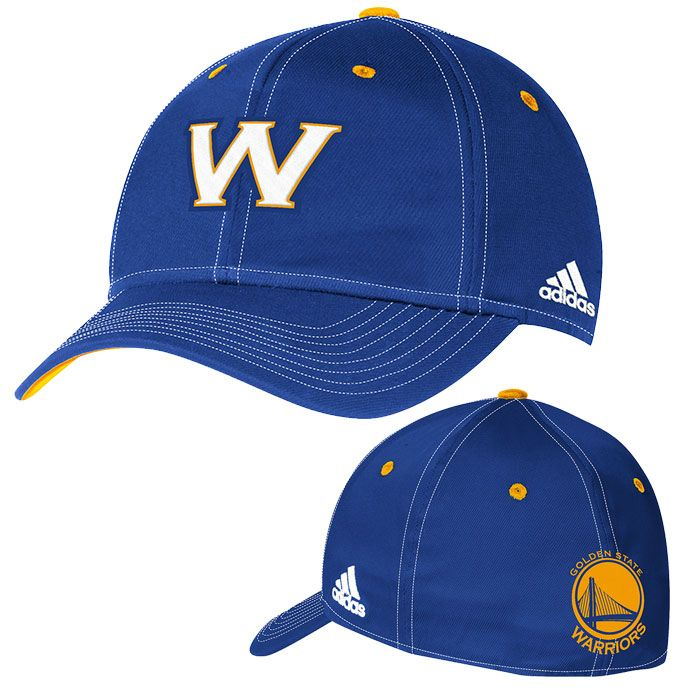 d602cc77f31 Golden State Warriors adidas Authentic Team Flexfit Cap - Royal ...