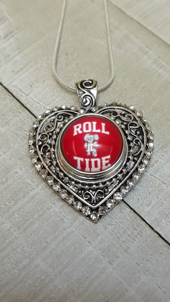 Roll Tide Alabama Crimson Tide Necklace with Sterling Silver Chain ( SHIPPING ONLY) #rolltidealabama Roll Tide Alabama Crimson Tide Necklace with Sterling Silver Chain ( SHIPPING ONLY) #rolltidealabama Roll Tide Alabama Crimson Tide Necklace with Sterling Silver Chain ( SHIPPING ONLY) #rolltidealabama Roll Tide Alabama Crimson Tide Necklace with Sterling Silver Chain ( SHIPPING ONLY) #rolltidealabama Roll Tide Alabama Crimson Tide Necklace with Sterling Silver Chain ( SHIPPING ONLY) #rolltideala #rolltidealabama