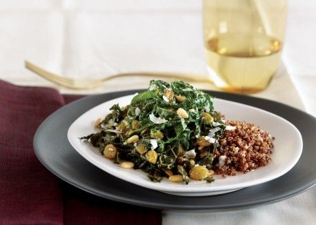 Braised and Raw Black Kale Salad