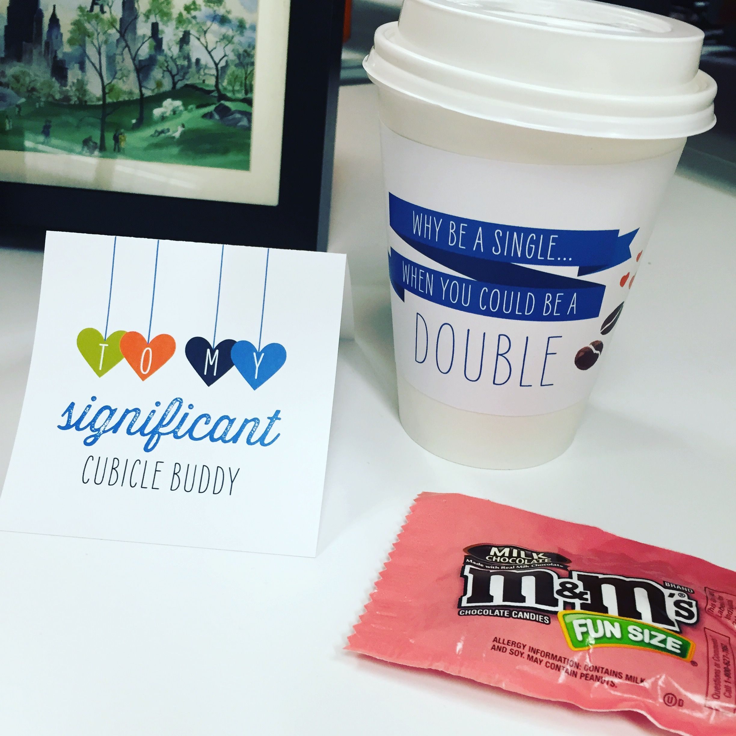 Cute office idea from Cornerstone Home Lending, Inc.! Print out one of these free valentine's day cards and leave them by your coworker's desk with some candy! Let your team know you care! :)