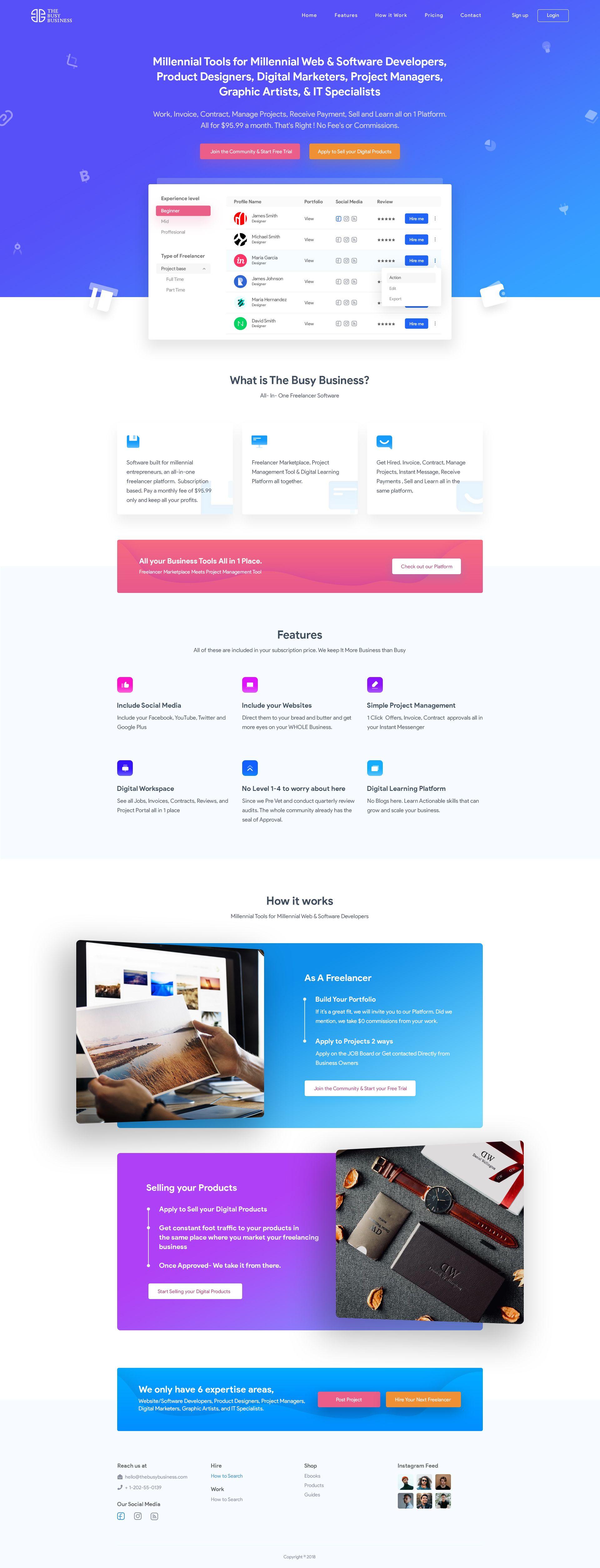 Freelancer Marketplace B2b B2c Website Design Work Page Website Design Website Design Layout Contact Us Page Design