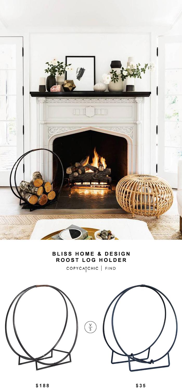 Bliss Home & Design Roost Log Holder for $188 vs Uniflame 24