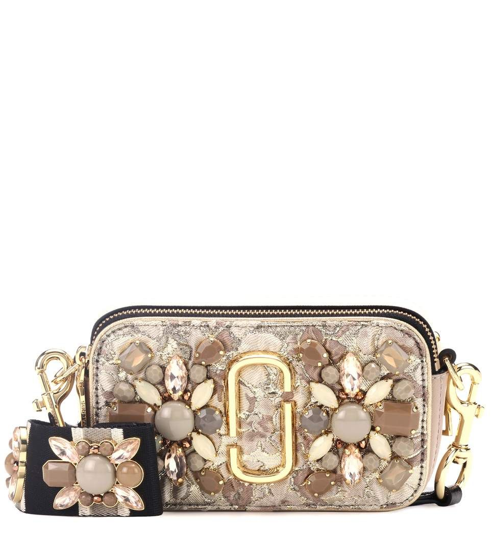6ad1187d4349 MARC JACOBS Snapshot Small leather camera bag.  marcjacobs  bags  shoulder  bags  leather  lining  crossbody  crystal