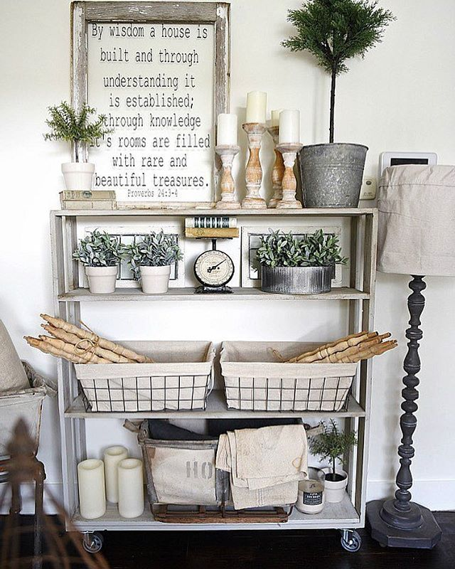Pin for Later: Fixer Upper Fans Have a New Website to Be Addicted To Because you can learn to make this rolling bookcase on her blog