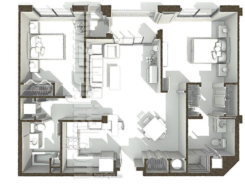 House Illustration PCI Dorm Floor Plan 2 home series
